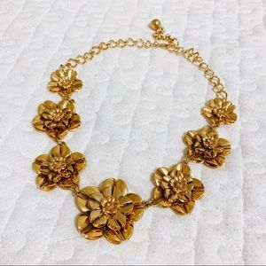 KATE SPADE gold floral statement necklace